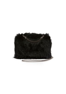Stella McCartney Faux-Fur Chain Clutch Bag