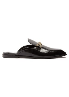Stella McCartney Faux-leather backless loafers