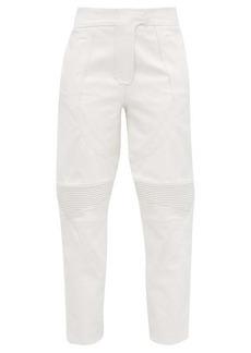 Stella McCartney Faux-leather biker trousers