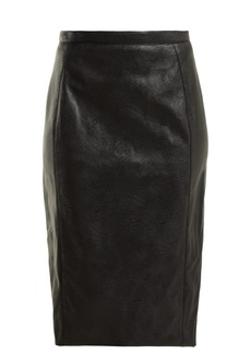 Stella McCartney Faux-leather pencil skirt