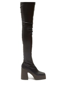 Stella McCartney Faux-leather over-the-knee platform boots