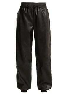 Stella McCartney Faux-leather trackpants