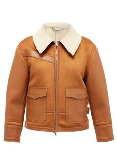 Stella McCartney Faux-shearling and faux-leather jacket