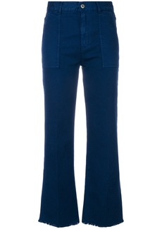 Stella McCartney flared cropped jeans - Blue