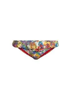 Stella McCartney Floral-print ruffle-trimmed bikini briefs