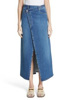 Stella McCartney Foldover Denim Skirt