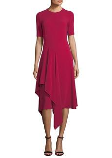 Stella McCartney Francesca Handkerchief-Hem Midi Dress