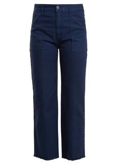 Stella McCartney Frayed-hem straight-leg jeans