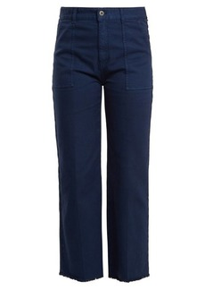 Stella McCartney Frayed-hem straight-leg jeans
