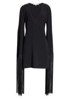 Stella McCartney Fringe Cuff Shift Dress