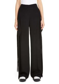 Stella McCartney Fringe Panel Silk Wide Leg Pants