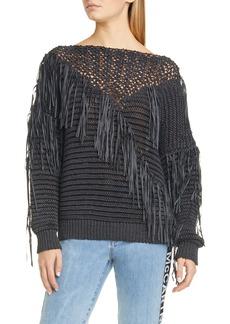 Stella McCartney Fringe Tape Yarn Sweater