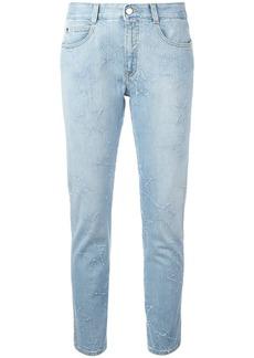 Stella McCartney fringed stars boyfriend jeans - Blue