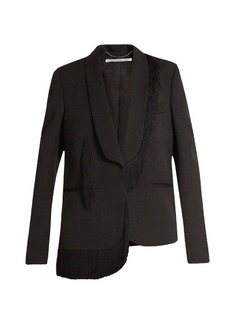 Stella McCartney Fringed-trim single-breasted blazer