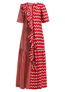 Stella McCartney Gabrielle zigzag-print maxi dress