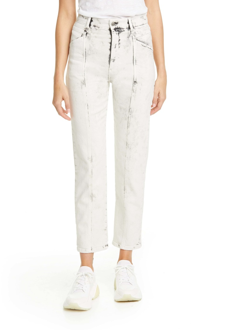 Stella McCartney Galaxi Acid Wash Ankle Jeans