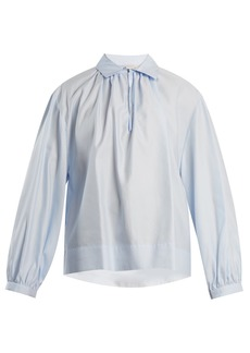 Stella McCartney Gathered cotton-poplin shirt