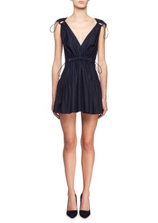Stella McCartney Gathered Empire-Waist Mini Dress