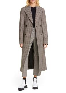 Stella McCartney Glen Plaid Double Breasted Wool Coat