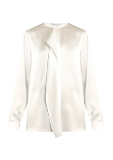 Stella McCartney Goldie ruffled silk-satin blouse