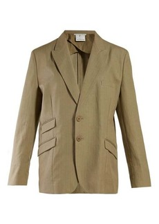 Stella McCartney Herringbone oversized single-breasted blazer