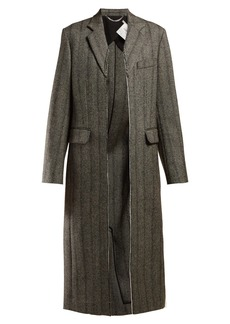 Stella McCartney Herringbone wool-blend coat