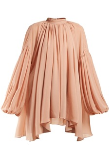 Stella McCartney High-neck silk-georgette blouse