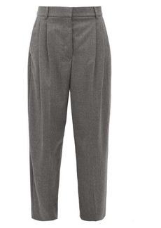 Stella McCartney High-rise pleated wool-flannel trousers