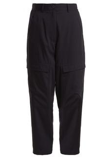 Stella McCartney High-rise tapered-leg wool cargo trousers