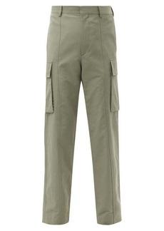 Stella McCartney High-rise twill cargo trousers
