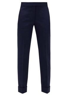 Stella McCartney High-rise wool-blend trousers