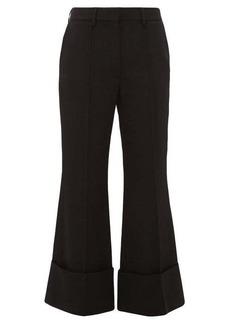 Stella McCartney High-rise wool-twill kick-flare trousers