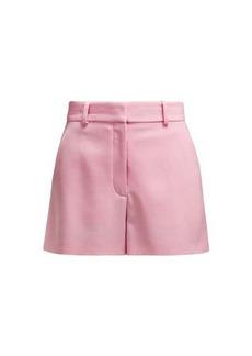 Stella McCartney High-rise wool-twill shorts
