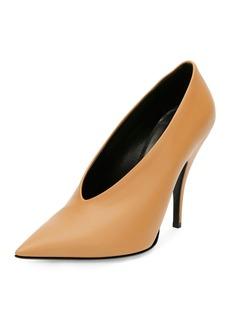 Stella McCartney High-Vamp Pointed-Toe Pump