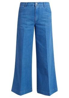 Stella McCartney High-waisted denim culottes
