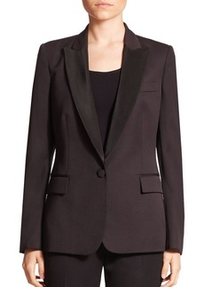 Stella McCartney Ingrid Wool Tuxedo Blazer