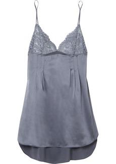 Stella McCartney Isabel Floating lace-paneled silk-blend satin chemise