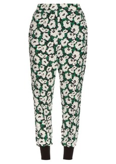 Stella McCartney Julia poppy-print cady trousers