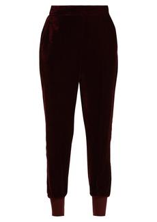 Stella McCartney Julia velvet track pants