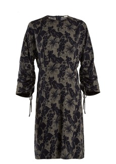 Stella McCartney Jungle-print ruched-sleeve dress
