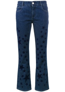Stella McCartney kick flare star printed jeans - Blue