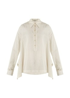 Stella McCartney Kristen striped cotton and silk-blend shirt