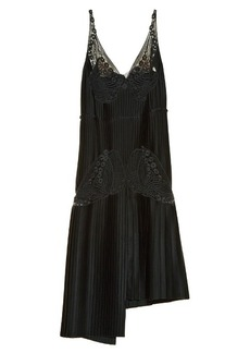 Stella McCartney Lace and pleated-satin dress