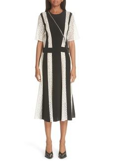 Stella McCartney Lace Stripe Silk Dress