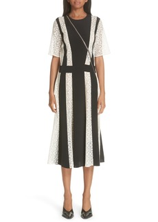 Stella McCartney Lace Stripe Silk Dress