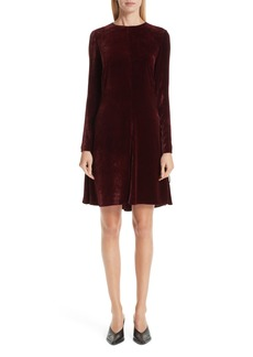 Stella McCartney Lace-Up Side Velvet Dress