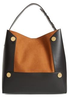 Stella McCartney Large Textured Faux Leather Bucket Bag