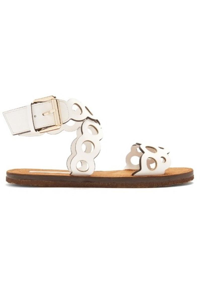 e5fb82f5b7110d SALE! Stella McCartney Stella McCartney Laser-cut faux-leather sandals