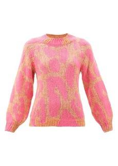 Stella McCartney Leopard-jacquard sweater