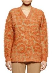 Stella McCartney Leopard-Pattern Mohair-Blend Sweater